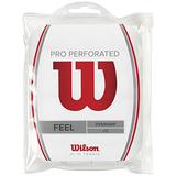 Wilson Perforated Pro Overgrip (12-Pack), White