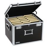 Vaultz® Vaultz Letter/Legal Chest Aluminum in Black/Gray, Size 12.0 H x 13.5 W x 16.5 D in | Wayfair VZ00634