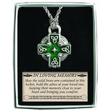 Cathedral Art Celtic Memorial Locket on 24-Inch Chain