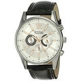 Titan Men's 9322SL01 Contemporary - Chronograph Tachometer - Black Leather Strap Watch