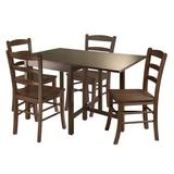 Winsome Wood Lynden 5-Piece Dining Table with 4 Ladder Back Chairs