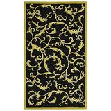 Safavieh Chelsea Collection HK307B Hand-Hooked Wool Area Rug, 2-Feet 9-Inch by 4-Feet 9-Inch, Black