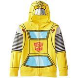 Transformers Boy's 2-7 Tranformers Bumblebee Costume Hoodie, Yellow, 3T