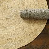 Round Braided Jute Rug Natural 6' Round - Ballard Designs