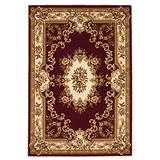 """KAS Oriental Rugs Corinthian Collection Aubusson Area Rug, 3'3"""" x 4'11"""", Red/Ivory"""