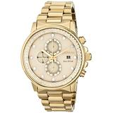 Citizen Eco-Drive Weekender Chronograph Mens Watch, Stainless Steel, Gold-Tone (Model: FB3002-53P)