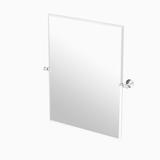 "Gatco 4129S Tavern 28"" Rectangular Beveled Wall Mounted Mirror Polished Nickel"