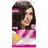 L'Oreal Healthy Look Hair Color - #4 Dark Brown Chocolate (Pack of 3)
