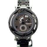 XOSKELETON Barracuda Swiss Ronda Quartz Gun Dial Black Accent IP Black Watch