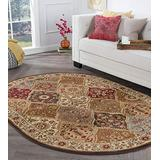 Tayse Cambridge Multi-Color 7x10 Oval Area Rug for Living, Bedroom, or Dining Room - Traditional, Abstract