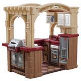 "Step2 kids Grand Walk In Kitchen Set, Plastic in Brown, Size 36.37"" L x 50.75"" W x 47"" H | Wayfair 8214KR"