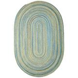 Colonial Mills Rustica Braided Rug, 2 by 3', Whipple Blue