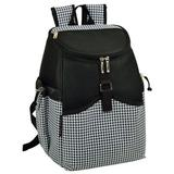 Picnic at Ascot 22 Can Houndstooth Backpack Cooler in Black/White, Size 14.0 H x 11.0 W x 8.0 D in | Wayfair 537-HT
