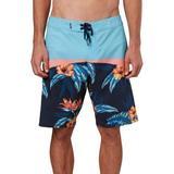 O'Neill Mens Hyperfreak Tropical Floral Boardshorts
