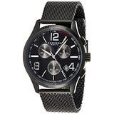 Akribos Swiss Chronograph Quartz Movement - Multifunction 3 Subdial Men's Watch on Stainless Steel Mesh Bracelet Watch - AK719