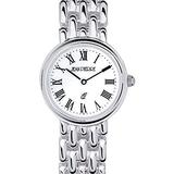 Sterling Silver Round Ladies Presentation Watch on Matching Solid Link Bracelet