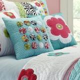 Amity Home Abby Jane Flower Sham 100% Cotton in Blue, Size 26.0 H x 26.0 W x 1.0 D in   Wayfair CC591ES