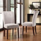 HomeVance 2 pc. Riley Side Chair Set, Silver