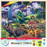 MasterPieces / Fun Facts 48-Piece Wood Puzzle, Dinosaur Friends