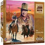MasterPieces John Wayne 1000 Puzzles Collection - The Cowboy Way 1000 Piece Jigsaw Puzzle