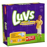 Luvs Diapers Ultra Leakguards Size 5 Jumbo Pack 27 Count
