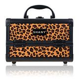 SHANY Mini Makeup Train Case With Mirror - Lost Cheetah