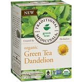 Traditional Medicinals Organic Green Tea Dandelion Tea, 16 Tea Bags (Pack of 6)