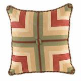 Waverly Laurel Springs Tufted Square Throw Pillow, Beig/Green, 20 SQUARE