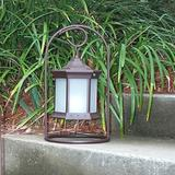 Starlite Garden and Patio Torche Co. Brown Solar Powered Integrated LED Metal Pathway Light Metal, Size 15.0 H x 7.0 W x 7.0 D in   Wayfair SLASFG