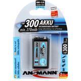 Ansmann 9V 300mah Rechargeable Battery (each)