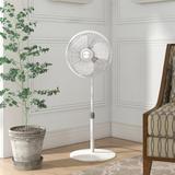 """Lasko 16"""" Oscillating Floor Fan in White, Size 18.0 H x 10.0 W x 6.0 D in   Wayfair 2526"""
