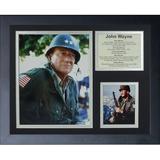 Legends Never Die John Wayne - War Movies Framed Memorabili Paper in Black/Brown, Size 12.5 H x 15.5 W x 1.0 D in | Wayfair 16450U