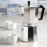 Prname to Primula 2-Shot Stovetop Aluminum Espresso Maker in Brown/Gray, Size 11.0 H x 5.24 W x 6.69 D in | Wayfair PES-3312