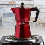 Primula Stove Top Aluminum 6-Cup Espresso Maker in Red, Size 7.48 H x 6.34 W x 4.06 D in | Wayfair PERE-3306