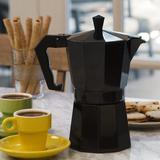 "Primula Primula Stove Top Aluminum 6-Cup Espresso Maker in Black, Size 7""H X 4""W X 6""D | Wayfair PEBK-3306"