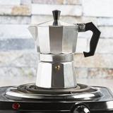 Prname to Primula 2-Shot Stovetop Aluminum Espresso Maker in Brown/Gray, Size 6.61 H x 3.54 W x 5.2 D in | Wayfair PES-3303