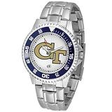 SunTime Men's Georgia Tech GT Watch Competitor Stainless Steel