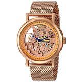 "Akribos Automatic Skeleton Mesh Men's Watch - ""Bravura"" Automatic Skeleton Dial Stainless Steel Watch with Mesh Bracelet - AK732"