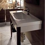 "WS Bath Collections Bentley 39"" Wall-Mounted Single Wood Bathroom Vanity Set Wood/Ceramic Top in Brown, Size 33.5 H x 39.4 W x 19.7 D in   Wayfair"
