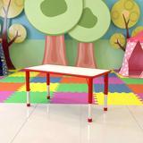 "Flash Furniture 47.25"" x 23.63"" Rectangular Activity Table Plastic/Metal, Size 23.5 H x 47.25 W x 23.625 D in   Wayfair YU-YCY-060-RECT-TBL-NAT-GG"