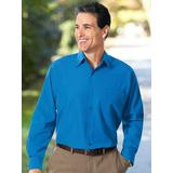 Haband Long Sleeve Mens Stain Resistant No Iron Dress Shirt, French Blue, Size 15.5 Short, S
