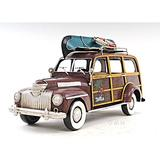 Old Modern Handicrafts 1947 Chevrolet Suburban Car w/ Canoe 1:12 Metal in Brown, Size 7.0 H x 5.5 W x 14.0 D in | Wayfair AJ017