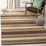 Safavieh Martha Stewart Collection MSR4541A Handmade Harmony Stripe Wool Area Rug, 5' x 8', Tobacco Leaf