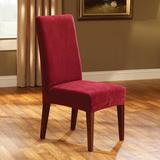 Sure Fit Stretch Pique Box Cushion Dining Chair Slipcover Polyester/Polyester Blend, Size 42.0 H x 18.5 W x 17.5 D in | Wayfair STPI1830CREA1