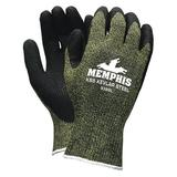 MCR SAFETY 9389S Cut Resistant Coated Gloves, A4 Cut Level, Latex, S, 1 PR
