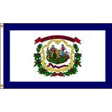 NYLGLO 145870 West Virginia Flag,4x6 Ft,Nylon