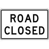 LYLE R11-2-48HA Traffic Sign,30 x 48In,BK/WHT,Text,R11-2