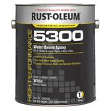 RUST-OLEUM 5392408 Epoxy Paint, White, Gloss, 1 gal, 200 to 350 sq ft/gal, None
