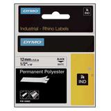 DYMO 18486 Label Tape Cartridge, Black/Metallic Silver, Labels/Roll: Continuous