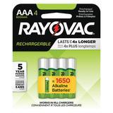 RAYOVAC LD724-4OP GENE Precharged Recharg. Battery,AAA,NiMh,PK4